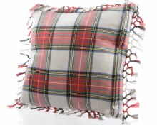 cotton cushion GB with check