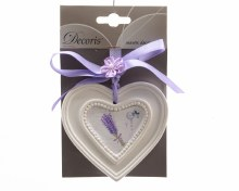 MDF wooden heart with hanger