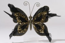 pes velvet butterfly on clip