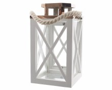 Firwood lantern with metal roof