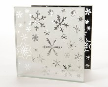 glass tealightholder snowflake