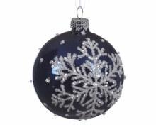 glass deco bauble snowflake