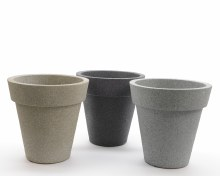 Plastic planter stacked (3 colours assorted)