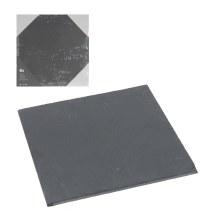 Coaster slate material (20x20cm/Black)