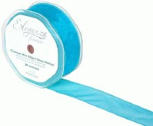 Finesse wired ribbon (32mm x 20m/Turquoise)