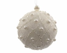 foam bauble w hanger w pearls