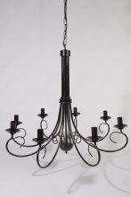 black antique 10arm chandelier