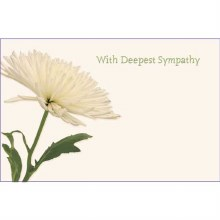 With deepest Sympathy White Ch