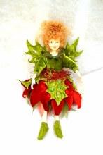 12in Poinsettia Fairy Green/Re