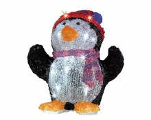 LED acryl penguin w hat out GB