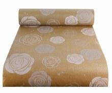 Kraft Paper Natural w White Rose Heads (50cmx100m)