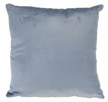 CUSHION 40CM VELVET BLUE