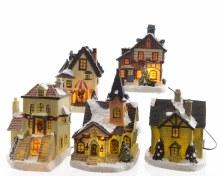 LED set of 5 houses ind bo th