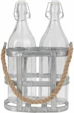 Bottleset Glass 2Pcs 1 Liter
