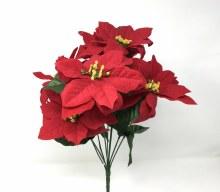 Bush Velvet Poinsettia 43cm x9