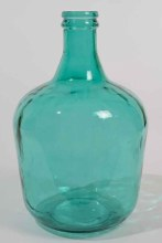recycled glass XL bottle vase
