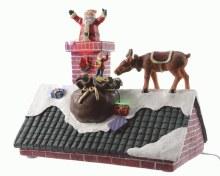 LED Santa on rooftop ind GB t