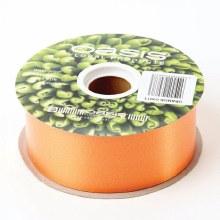 Poly Ribbon Satin Orange (4.8cm x 91m)