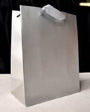 Plain Carrier Bags 42x30 Silve
