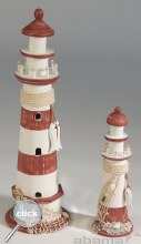 Red / White Lighthouse 52cm