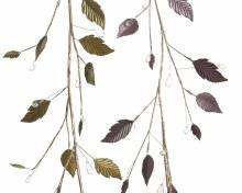iron leaf garland w beads 2cls