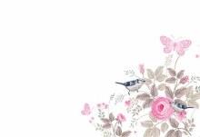 Card Blank - Vintage Rose Butterflies