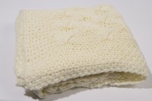acrylic throw hand knitted