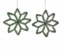 PE snowflake w jute hanger 2as