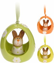 Easter Hanger Egg with Bunny Assorted (7cm)