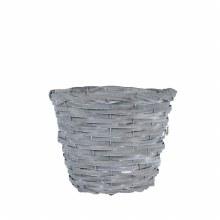 Basket Round Woodhouse Grey Wash 25cm