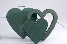 "Plastic Base Heart Closed 13"" (x2)"