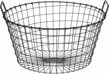 Basket Metal 46X27cm Rustic Co
