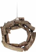 Wreath twig teak wood