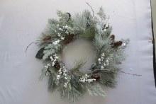 Deco Wreath w Cones/Berries Green 60cm