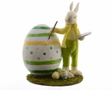 grass bunny painting foam egg
