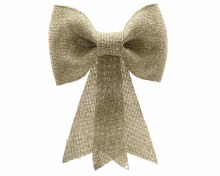 plastic bow w glitter w hanger