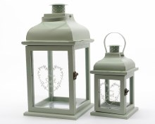 MDF lantern with metal roof
