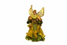 "17"" Angel Tree Topper Sage Gold"