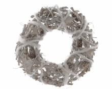 birch branch wreath with stars