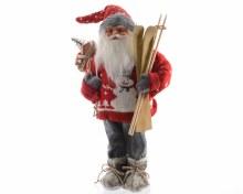 acrylic Santa with skis