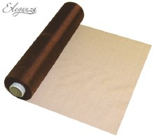Soft sheer organza (290mm x 25m/Chocolate)