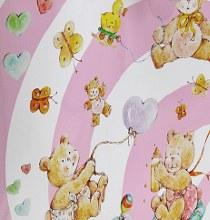 Paper rolls baby bear (70cm x 50m/Pink)