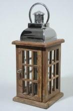 shesham wood lantern w handle