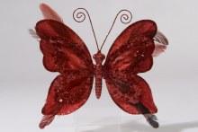 pes velvet butterfly on clip