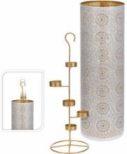 Tealightholder (49cm/White gold)