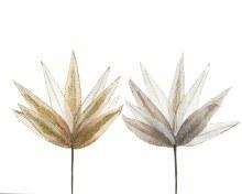 pes velvet leaf w glitter 2cls