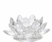 glass tealightholder flower w