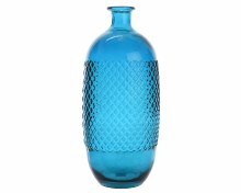 recycled glass vase diamond