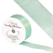 Candy Shimmer Metallic Ribbon Carib Blue 38mmx10m