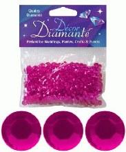 Decor Diamante 6mm Cerise